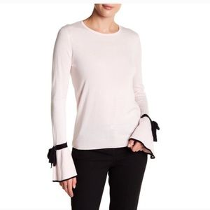 CeCe Bow-Tie Bell Sleeve Sweater